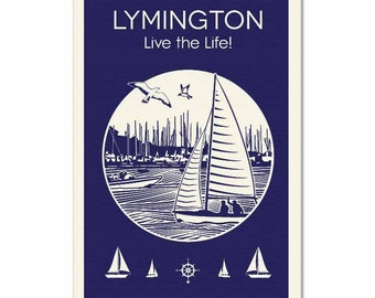 Lymington Tea Towel