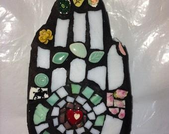 Mosaic 'I See Green'  Hand Wall Art