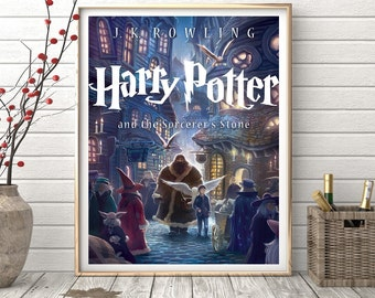 Harry Potter and rhe Sorcerer's stone Book cover poster