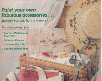 Decorative Artists Workbook Patterns Inside August 1989 Paint Your Accessories