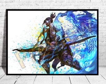 Hanzo Wall Print, Game Poster, Overwatch Hanzo, Overwatch Poster,AG113