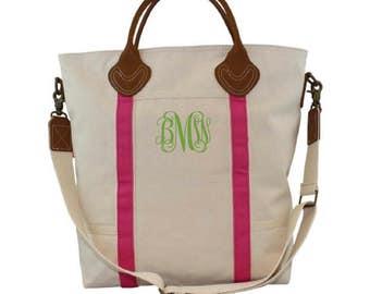 Monogrammed Shoulder Bag - 8 Colors Available- Airplane Tote - Laptop Bag- Flight Bag- Professional Bag- Messenger Bag- Leather