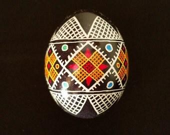 Traditional Chicken Pysanka.  Ukrainian Easter Eggs; handmade gift  unique home decor; pascha gift; Orthodox egg pysanky eggs unique gift