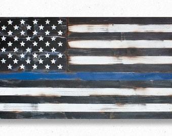 Distressed Us Flag Etsy