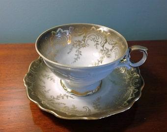 Tea Cup Schumann Arzberg Bavaria 35 porcelain bone china cup and saucer Antique Rare pattern vintage