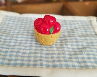 Hallmark Merry Miniature basket of apples