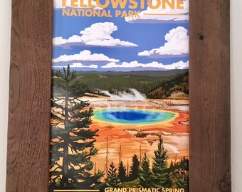 Yellowstone National Park Rustic Frame