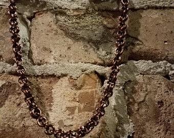 mocha choker chain 19in length .5 width