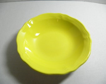 Vintage 1950's Sears Lemon Yellow 4236 Federalist Ironstone 6 1/2 Coupe Soup Cereal Bowl