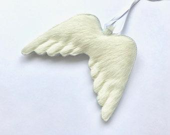 Angel wings made of cow fur