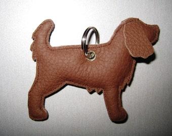 Spaniel leather pendant