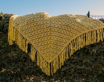 Yellow cotton shawl