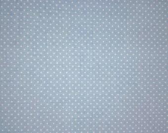 "Cotton Fabric ""Blue Polka Dot"". Tela ""Mini Topo Azul"""