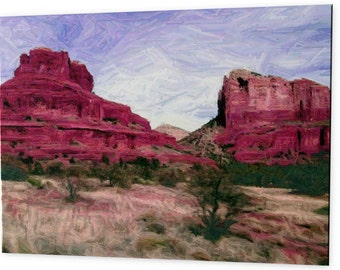 "Limited Edition ""Sedona"" - Blue Ribbon Winner - Artistic Photography Canvas Print - 10% of Proceeds for Charity"