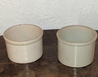 1/2 gallon Salt glazed crocks.