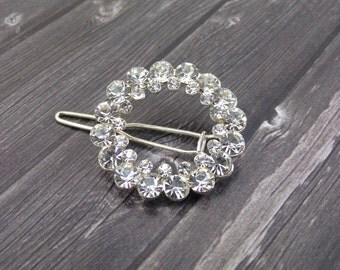 Rhinestone Wedding Hair Clip Pin Flower Center Piece Embellishment