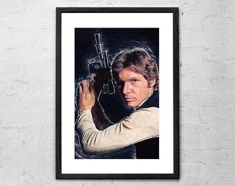 Han Solo - Star Wars - Han solo Poster - Han solo Blaster - Star Wars Poster - Han Solo Print - Han Solo Art - Star Wars Wall Art