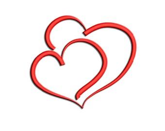 Hearts Embroidery design Valentine's day Machine embroidery design - Saint Valentine's Day - NushNusha shop