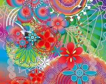 Greetingcard, Magical card: Freedom. Spiritual card, symbolic art