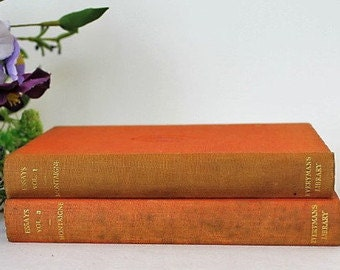 Montaigne Essays Volume 1 & 3/ Everyman's Library/ Vintage Books/ 1930's/SALE  (0023Q)