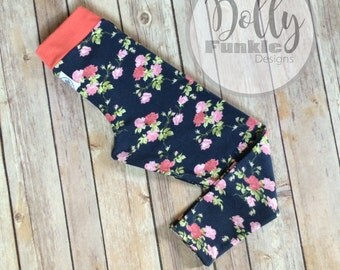 Floral leggings, size 4T