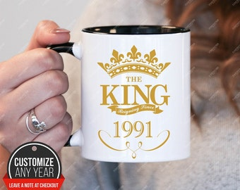 King since 1991, 27th birthday 27th birthday gifts for women, 1991 birthday gift, 27th birthday mug for mens, 27th birthday