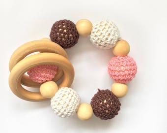 Natural wooden teething toy, Wooden teething ring, teething toy, teether, teething ring, baby toy, wooden teether, baby gift, baby teether