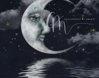 Moon digital backdrop
