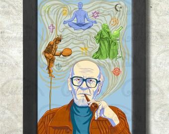 Mircea Eliade Poster Print A3+ 13 x 19 in - 33 x 48 cm  Buy 2 get 1 FREE