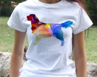Golden Retriever T-shirt - Dog Tee - Fashion women's apparel - Colorful printed tee - Gift Idea