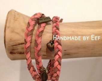 Bracelet - pinkbrown / bronze