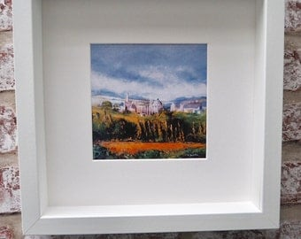 Print of an original oil painting Oxford 1 - framed and signed by the Artist
