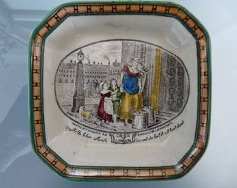 Adams 'Cries of London' square trinket or pin dish