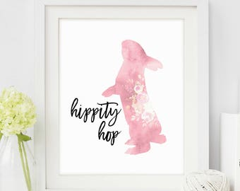 Nursery Print Bunny, Rabbit Print Art, Rabbit Print, Print Nursery Rabbit, Rabbit Prints, Instant Download, Wall Art, Printable Art