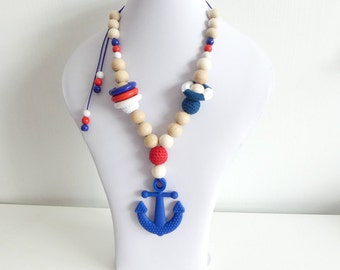 Still wearing chain anchor blue silicone