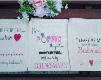 Mini Bridesmaids Sacks