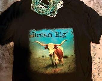 Dream Big* Black V-Neck Tee