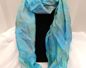 Ice dyed scarf- Seventh Sea