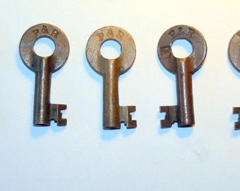 Philadelphia & Reading Railroad Switch Keys