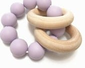 SALE!! Silicone and Wood Teether