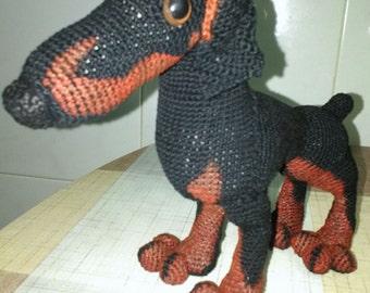 Miniature doberman to crochet