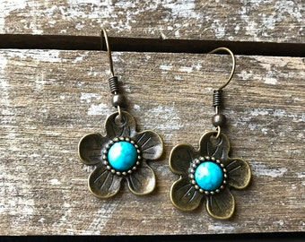 Bronze Blossom Earrings