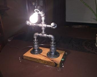 Steampunk Robot Lamp