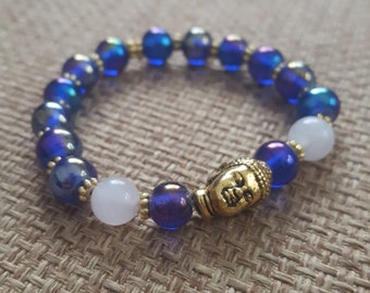 Rose quartz Buddha bracelet