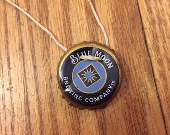 Blue Moon Bottlecap Necklace