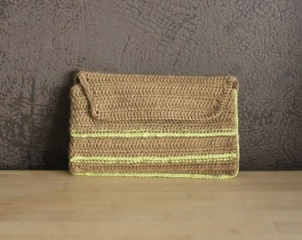 Tobacco crochet pouch