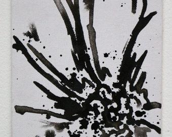Black Ink Flower