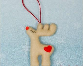 Felt Reindeers Christmas Decoration, Christmas Tree Ornaments