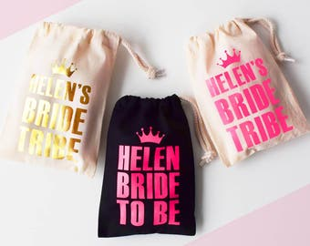 Personalised Hen Party Bag, Bride Tribe, Personalized Bachelorette Party Bag
