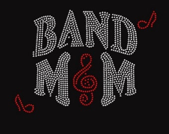 Rhinestone Band Mom Bling Lightweight T-Shirt    or Iron Transfer                                  BEWQ
